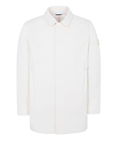 STONE ISLAND 709F1 POLIESTERE STRETCH 5 L_GHOST PIECE Mid-length jacket Man Natural White EUR 497