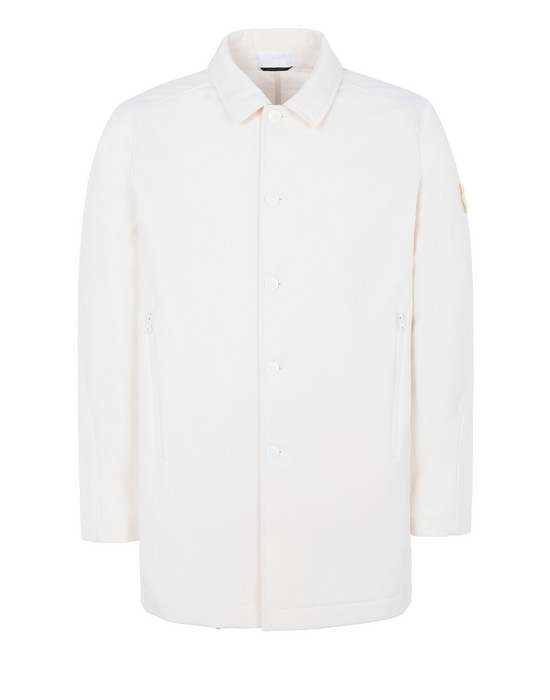 STONE ISLAND 709F1 POLIESTERE STRETCH 5 L_GHOST PIECE Mid-length jacket Man Natural White