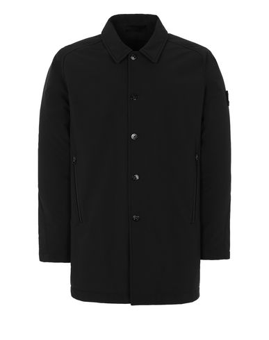 STONE ISLAND 709F1 POLIESTERE STRETCH 5 L_GHOST PIECE Mid-length jacket Man Black EUR 753