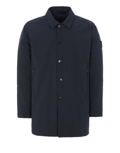 STONE ISLAND 709F1 POLIESTERE STRETCH 5 L_GHOST PIECE Mid-length jacket Man Blue USD 885