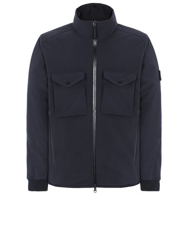 STONE ISLAND 426F1 POLIESTERE STRETCH 5 L_GHOST PIECE 캐주얼 재킷 남성 블루 KRW 1030975