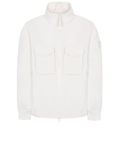 STONE ISLAND 426F1 POLIESTERE STRETCH 5 L_GHOST PIECE Jacket Man Natural White EUR 373