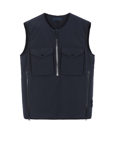 STONE ISLAND G03F1 POLIESTERE STRETCH 5 L_GHOST PIECE Vest Man Blue EUR 561