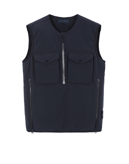 STONE ISLAND G03F1 POLIESTERE STRETCH 5 L_GHOST PIECE Vest Man Blue