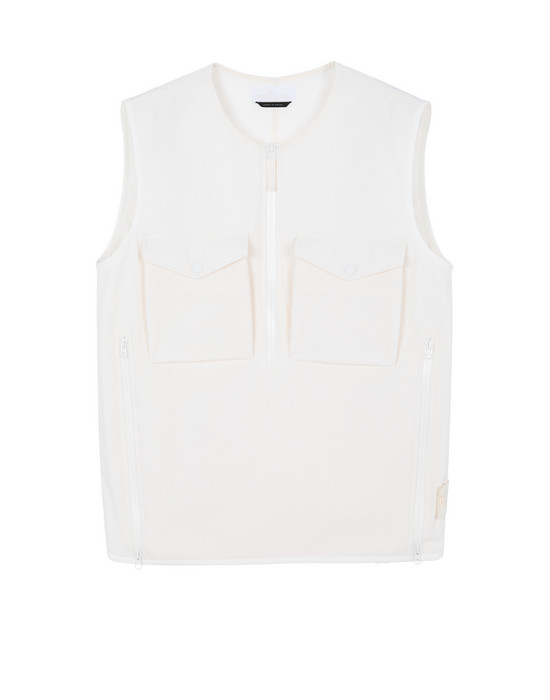 STONE ISLAND G03F1 POLIESTERE STRETCH 5 L_GHOST PIECE Waistcoat Man Natural White