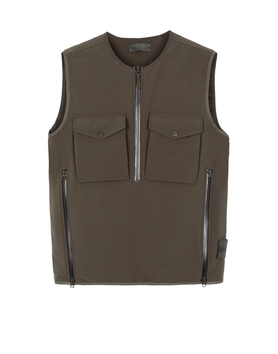 STONE ISLAND G03F1 POLIESTERE STRETCH 5 L_GHOST PIECE Waistcoat Man Military Green