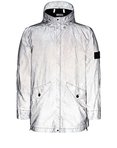 STONE ISLAND 42599 PLATED REFLECTIVE WITH DUST COLOUR FINISH Jacket Man Gray USD 1473