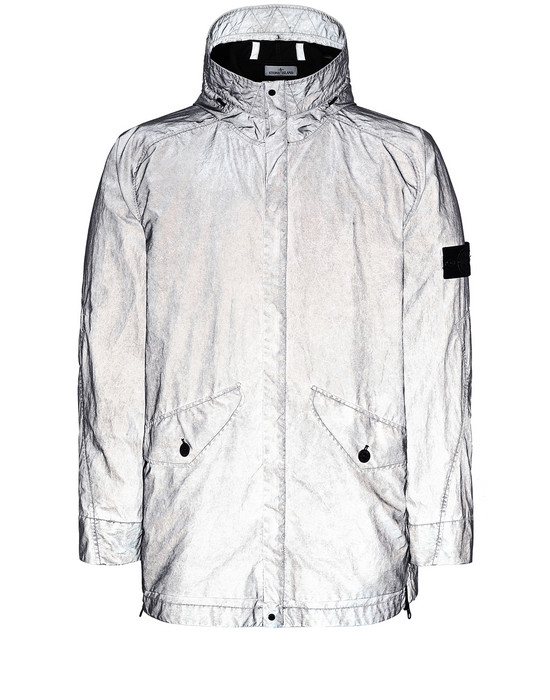 Jacket Man 42599 PLATED REFLECTIVE WITH DUST COLOUR FINISH Front STONE ISLAND