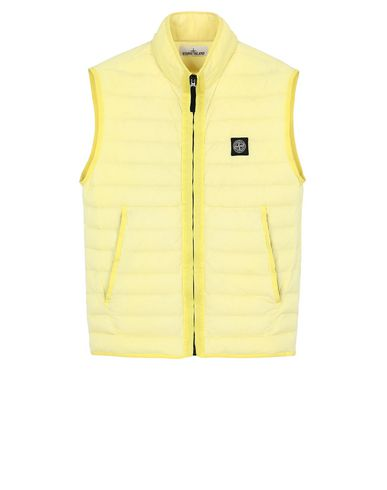 STONE ISLAND G0125 LOOM WOVEN DOWN CHAMBERS STRETCH NYLON-TC  Waistcoat Man Lemon EUR 306