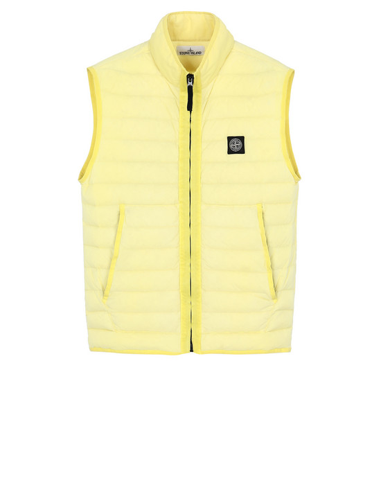 STONE ISLAND G0125 LOOM WOVEN DOWN CHAMBERS STRETCH NYLON-TC  Vest Man Lemon