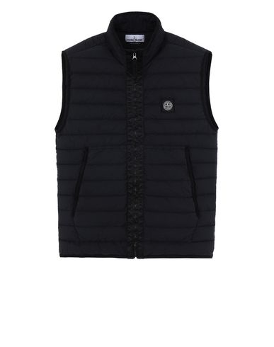 STONE ISLAND G0125 LOOM WOVEN DOWN CHAMBERS STRETCH NYLON-TC  Waistcoat Man Black EUR 389