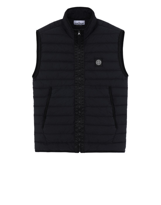 STONE ISLAND G0125 LOOM WOVEN DOWN CHAMBERS STRETCH NYLON-TC  Vest Man Black