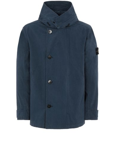 STONE ISLAND 42021 COTTON / CORDURA® Jacket Man Marine Blue EUR 553