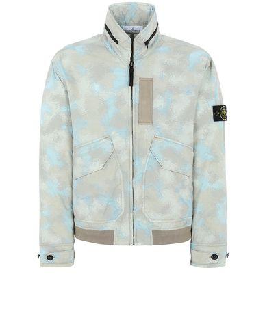 STONE ISLAND 445E2 CAMO DÉVORÉ WATRO-TC Jacket Man Dove Grey EUR 815