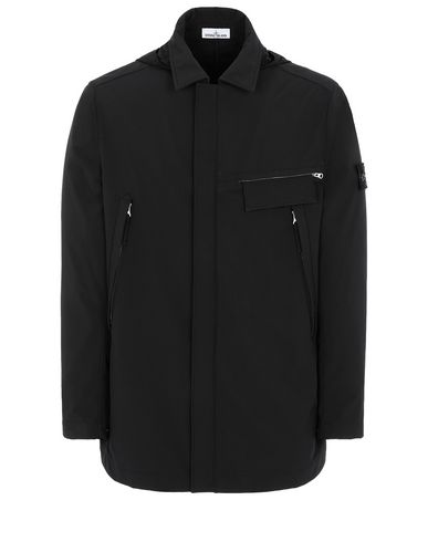 STONE ISLAND 40727 LIGHT SOFT SHELL-R Mid-length jacket Man Black EUR 587