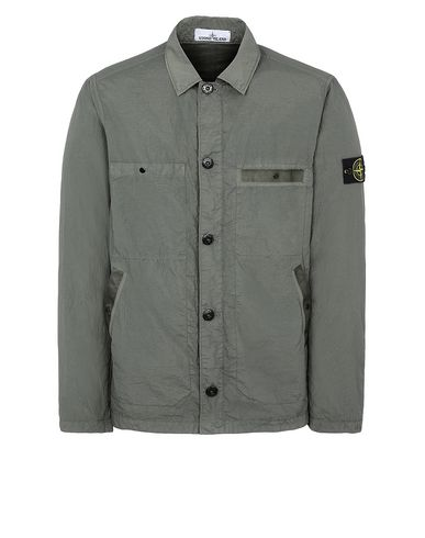 STONE ISLAND 44229 S.I.PA/PL SEERSUCKER-TC Jacket Man Olive Green USD 623