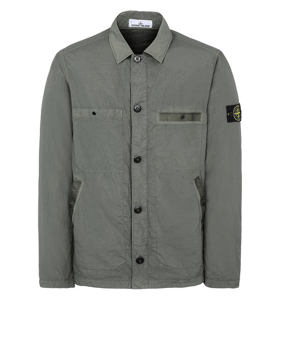 STONE ISLAND 44229 S.I.PA/PL SEERSUCKER-TC Jacket Man Olive Green