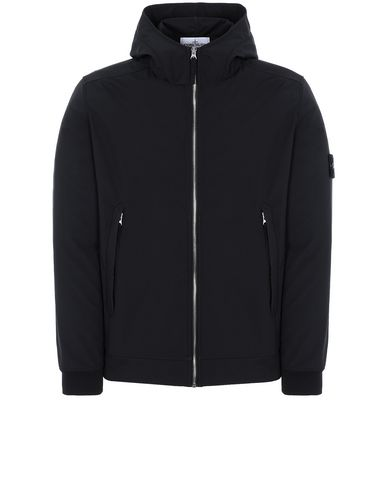 STONE ISLAND 40927 LIGHT SOFT SHELL-R Jacket Man Black EUR 445