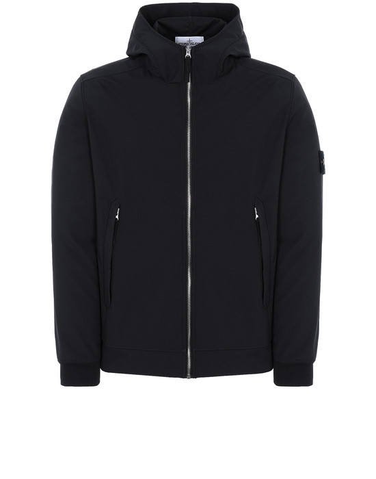 STONE ISLAND 40927 LIGHT SOFT SHELL-R Giubbotto Uomo Nero