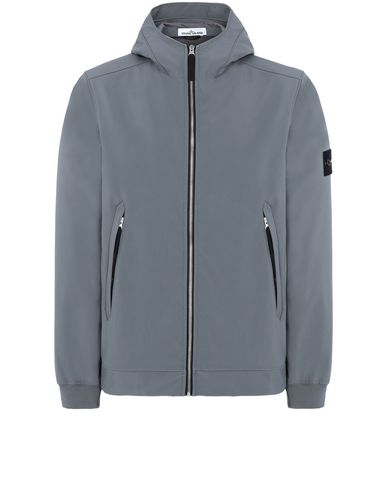 STONE ISLAND 40927 LIGHT SOFT SHELL-R Jacket Man Blue Grey EUR 460