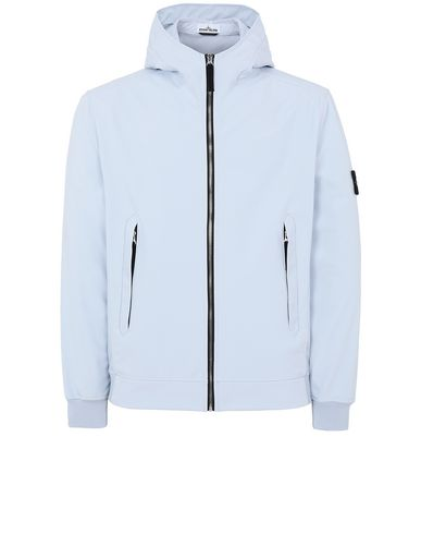 STONE ISLAND 40927 LIGHT SOFT SHELL-R Jacket Man Sky Blue EUR 341