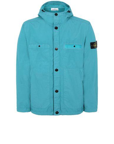 STONE ISLAND 45329 S.I.PA/PL SEERSUCKER-TC Jacket Man Turquoise EUR 587