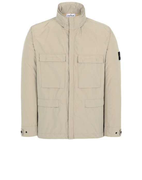 STONE ISLAND 45122 MICRO REPS Jacket Man Dark Beige