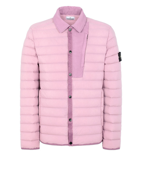 STONE ISLAND 41125 LOOM WOVEN DOWN CHAMBERS STRETCH NYLON-TC  Jacket Man Pink Quartz
