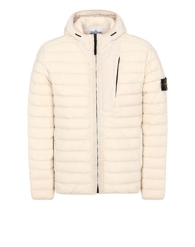 STONE ISLAND 41225 LOOM WOVEN DOWN CHAMBERS STRETCH NYLON-TC  Jacket Man Beige EUR 618