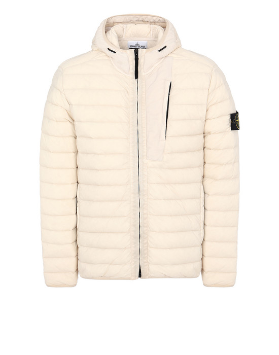 Jacket Man 41225 LOOM WOVEN DOWN CHAMBERS STRETCH NYLON-TC Front STONE ISLAND