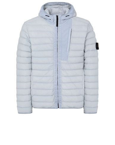 STONE ISLAND 41225 LOOM WOVEN DOWN CHAMBERS STRETCH NYLON-TC  Jacket Man Sky Blue EUR 440