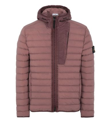 STONE ISLAND 41225 LOOM WOVEN DOWN CHAMBERS STRETCH NYLON-TC  Jacket Man MAHOGANY BROWN EUR 607