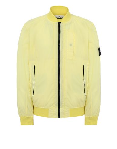 STONE ISLAND 44431 SKIN TOUCH NYLON-TC_PACKABLE Jacket Man Lemon EUR 395