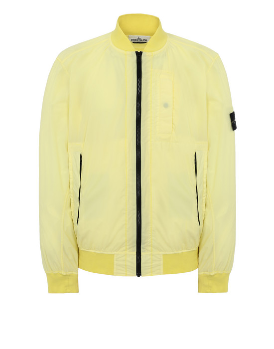 STONE ISLAND 44431 SKIN TOUCH NYLON-TC_PACKABLE Blouson Homme Citron
