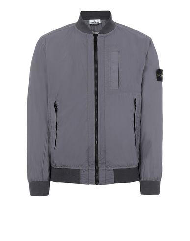 STONE ISLAND 44431 SKIN TOUCH NYLON-TC_PACKABLE Jacket Man Blue Grey EUR 320