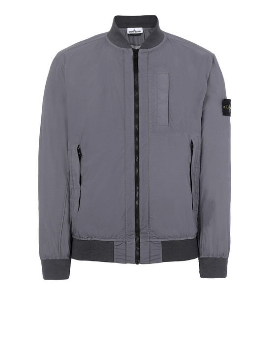 STONE ISLAND 44431 SKIN TOUCH NYLON-TC_PACKABLE Jacket Man Blue Grey