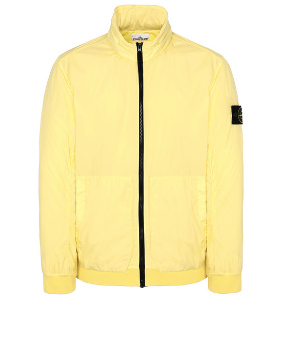 STONE ISLAND 43230 GARMENT DYED CRINKLE REPS NY Blouson Homme Citron