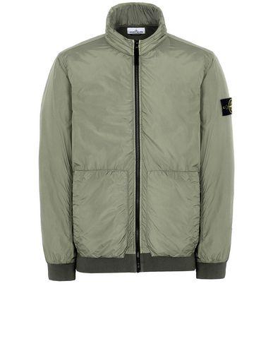 STONE ISLAND 43230 GARMENT DYED CRINKLE REPS NY Jacket Man Olive Green USD 440