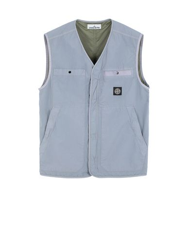 STONE ISLAND G0229 S.I.PA/PL SEERSUCKER-TC  Vest Man Dust Gray USD 529