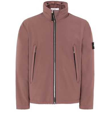 STONE ISLAND 40827 LIGHT SOFT SHELL-R Jacket Man MAHOGANY BROWN EUR 253