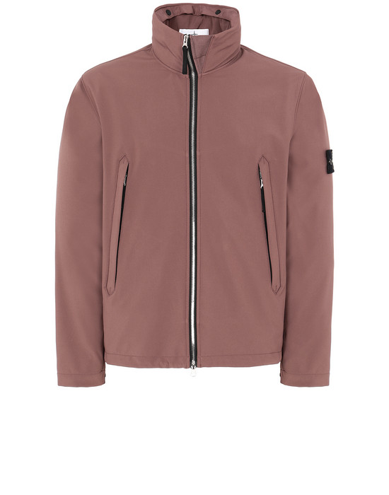 STONE ISLAND 40827 LIGHT SOFT SHELL-R Jacket Man MAHOGANY BROWN