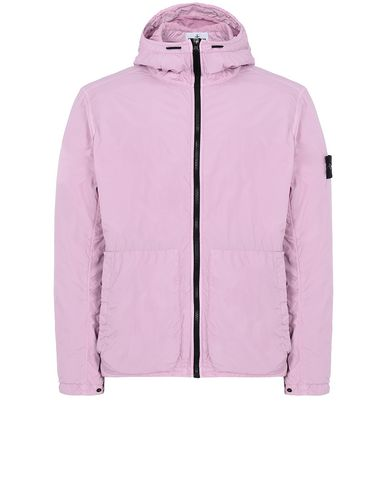 STONE ISLAND 43330 GARMENT DYED CRINKLE REPS NY Jacket Man Pink Quartz EUR 490