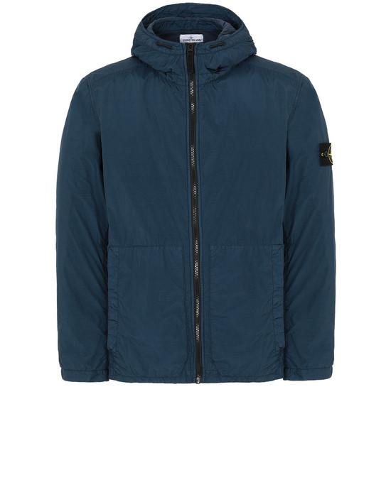 STONE ISLAND 43330 GARMENT DYED CRINKLE REPS NY Jacket Man Marine Blue