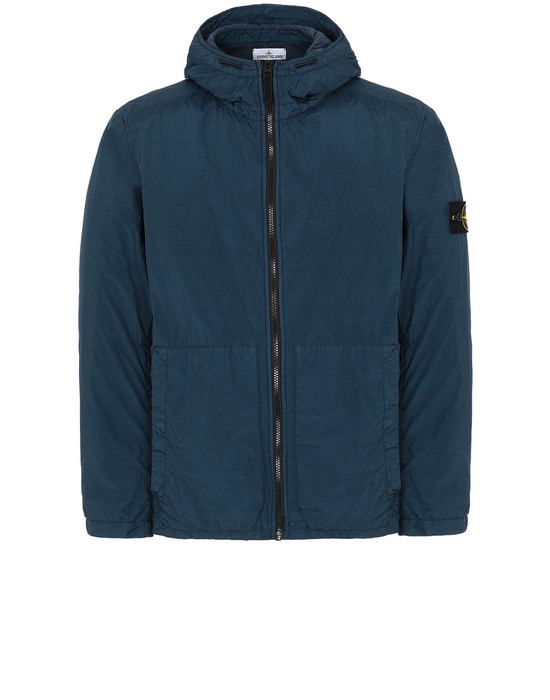 Jacket Man 43330 GARMENT DYED CRINKLE REPS NY Front STONE ISLAND