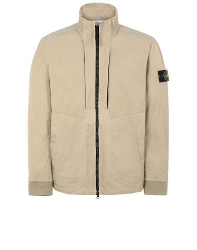 STONE ISLAND 40126 TIGHTLY WOVEN NYLON TWILL-TC Jacke Herr Dunkles Beige EUR 433