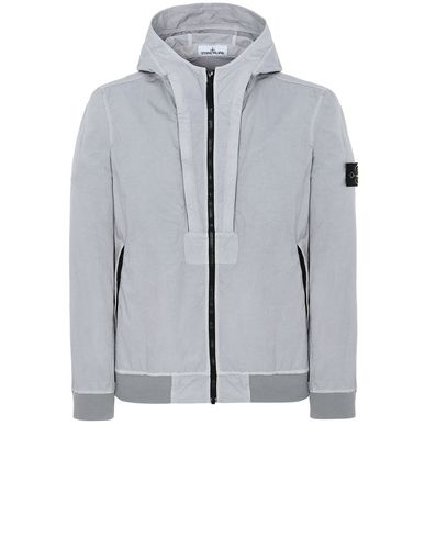 STONE ISLAND 40426 TIGHTLY WOVEN NYLON TWILL-TC Jacket Man Dust Gray USD 605