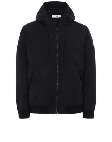 STONE ISLAND 40426 TIGHTLY WOVEN NYLON TWILL-TC Jacket Man Black EUR 660