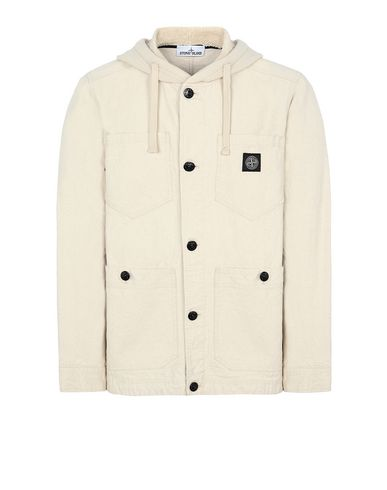 STONE ISLAND 428J1 PANAMA PLACCATO Jacket Man Beige USD 565