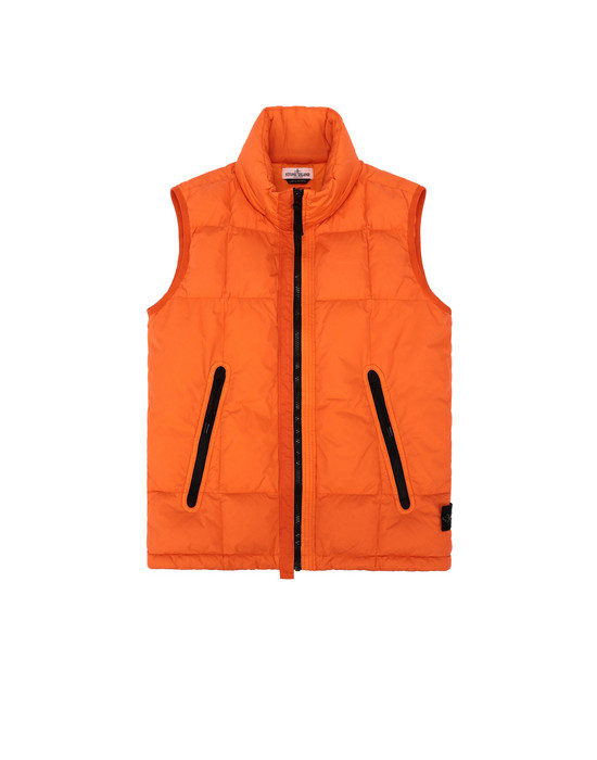 Gilet G0133 GARMENT DYED CRINKLE REPS NY DOWN   STONE ISLAND JUNIOR - 0
