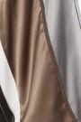 BRUNELLO CUCINELLI ビーズ付き ストライプストレッチシルクサテン ジャケット